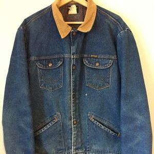 WRANGLER DENIM JACKET CORDUROY MEN'S SIZE 48 L